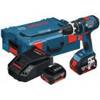 Bosch GSB 18 V-LI Professional (4.0 Ah x 2, L-BOXX)