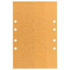 Шлифлист C470, в упаковке 10шт. 93 x 230 mm, 3 x 60; 4 x 80; 3 x 120